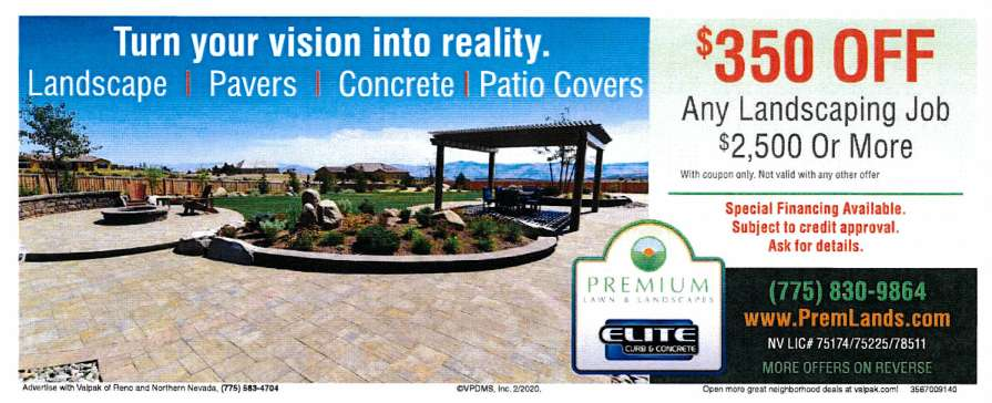 landscaping and concrete coupon